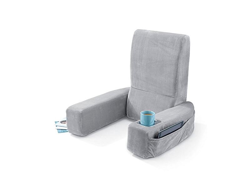 plush blue chair up monogrammed watching pillow sitting and husband fuzzy large bed tv in rest bedroom support for wedge reading best backrest back extra arm pillows