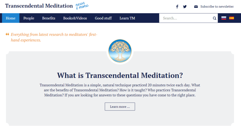 TMHome's transcendental meditation blog