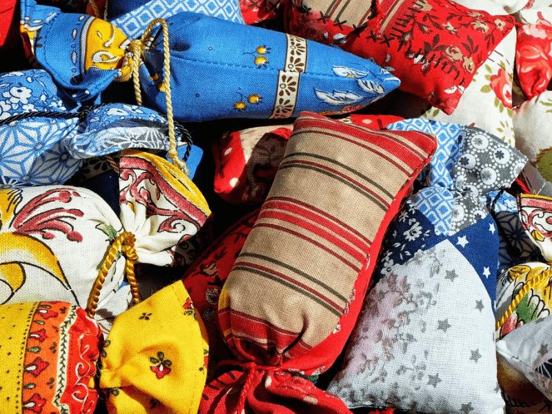 An assortment of dream pillows