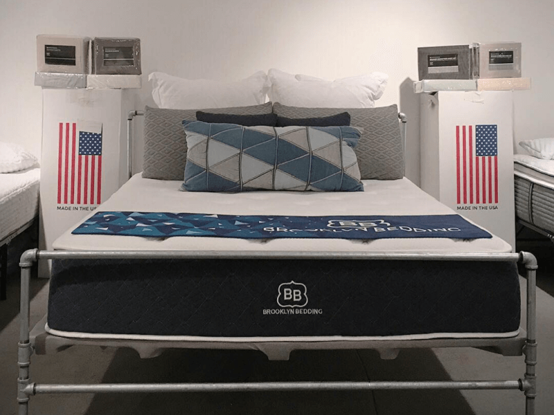 Brooklyn Bedding mattress in showroom