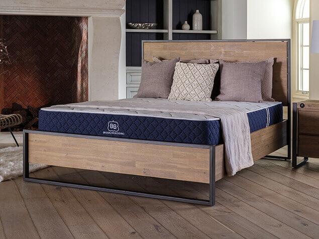 Brooklyn Signature mattress on wooden bedframe