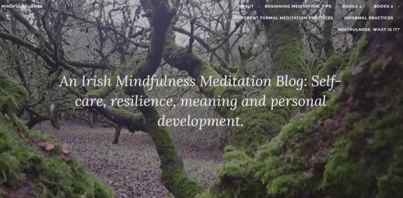 Mindful Balance website landing page
