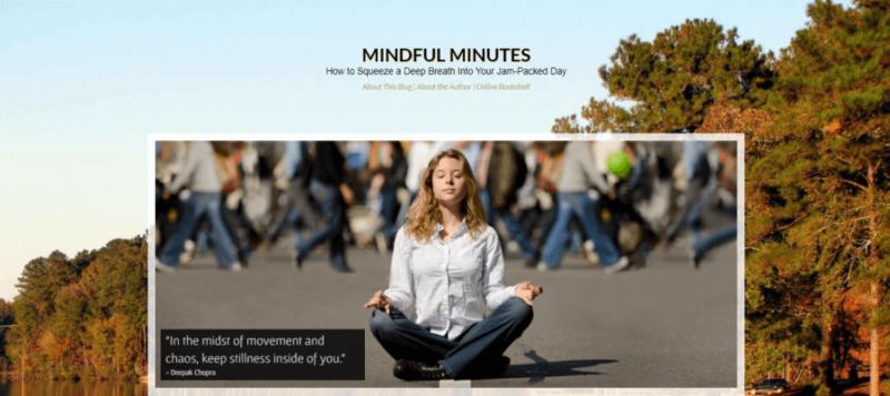 Mindful Minutes website landing page