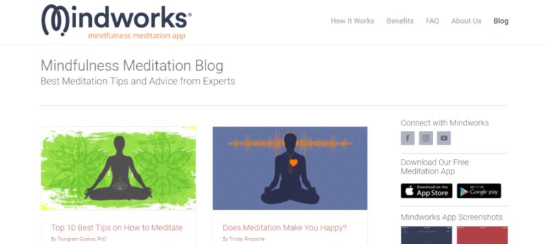 MindWorks website landing page