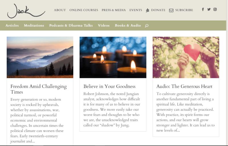 Jack Kornfield's buddhist meditation site