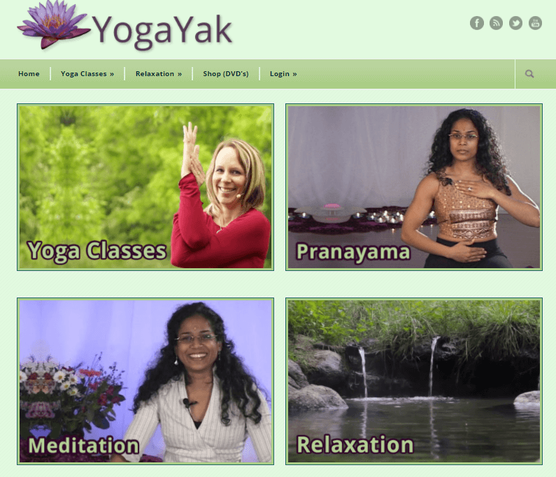 YogaYak's yoga meditation blog and services list