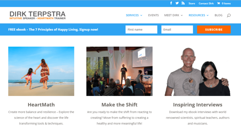 The homepage of Dirk Terpstra's website