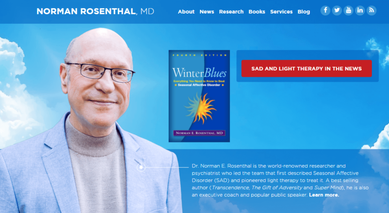 Website of transcendental meditation proponent Dr. Norman Rosenthal