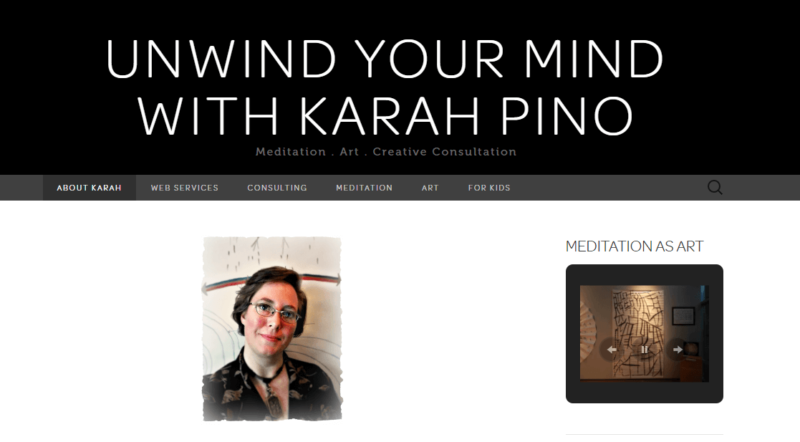 The homepage of Karah Pino's website