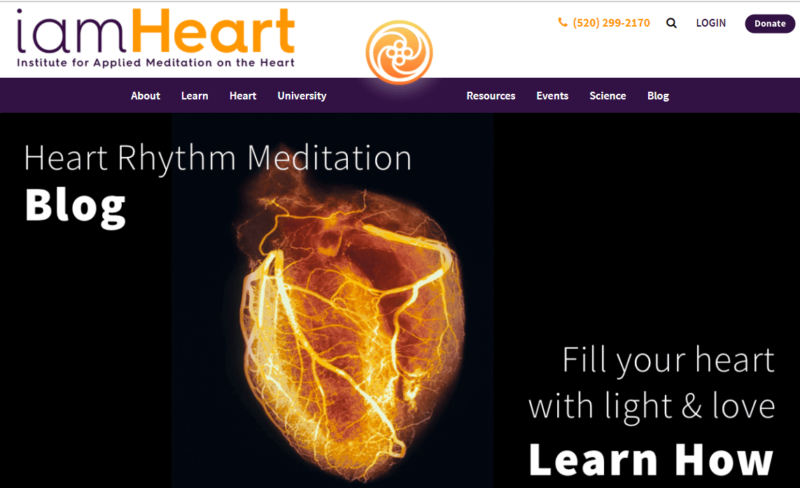 The homepage for iamHeart organization
