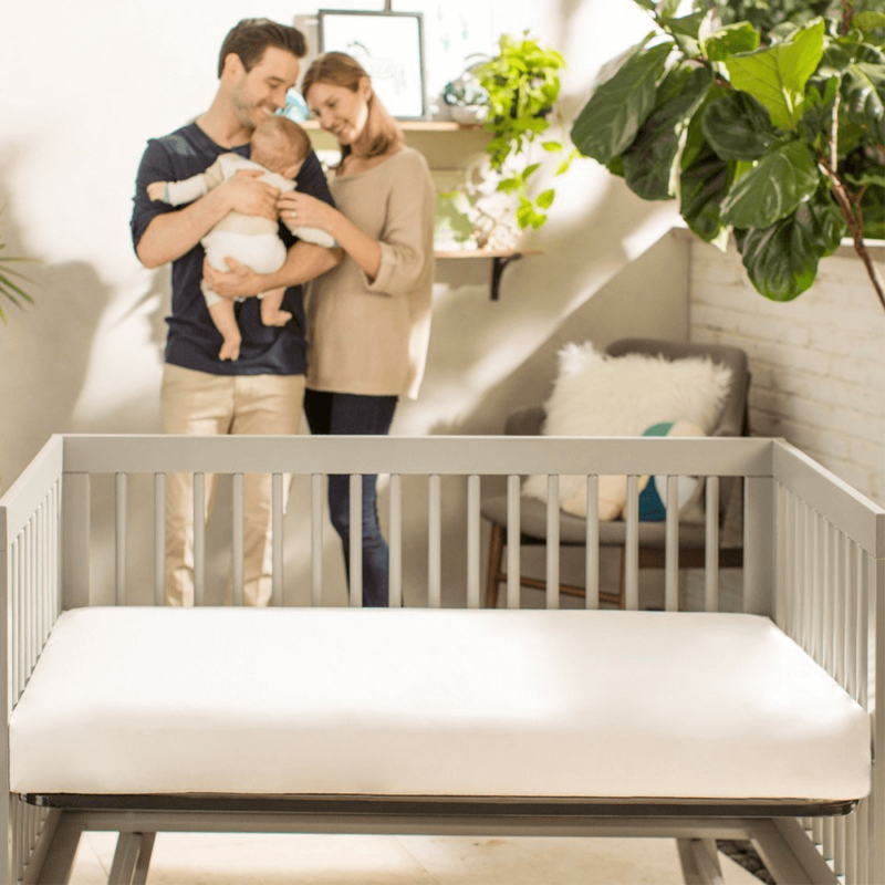 Lightweight Organic Cotton Classic Crib Mattress with Family