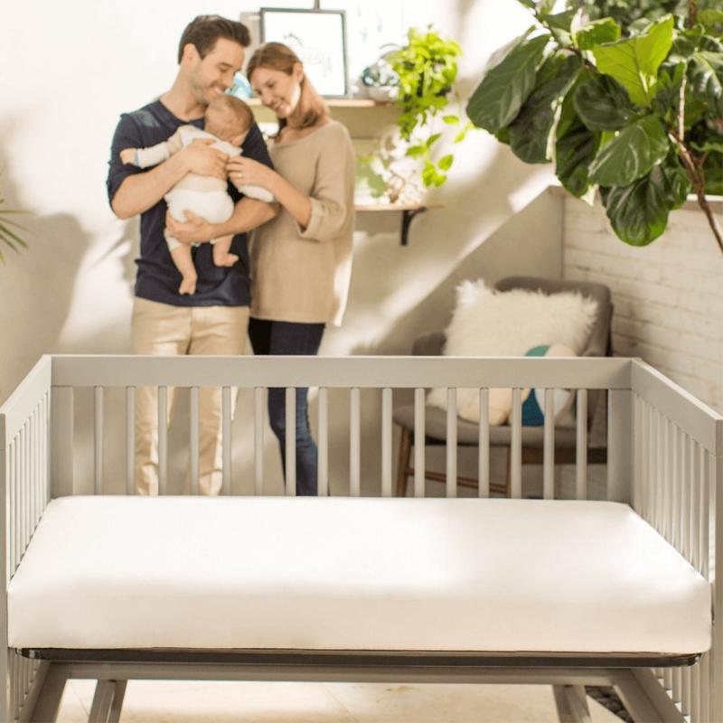 Lightweight Organic Cotton Classic Crib Mattress with Family