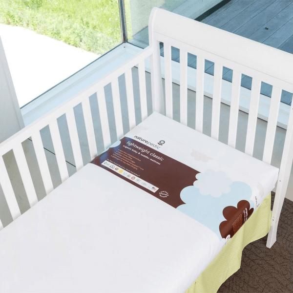 Lightweight Organic Cotton Classic Crib Mattress in Crib 1
