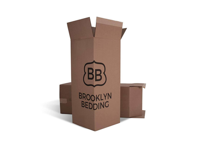 Brooklyn Bedding delivery boxes on white background