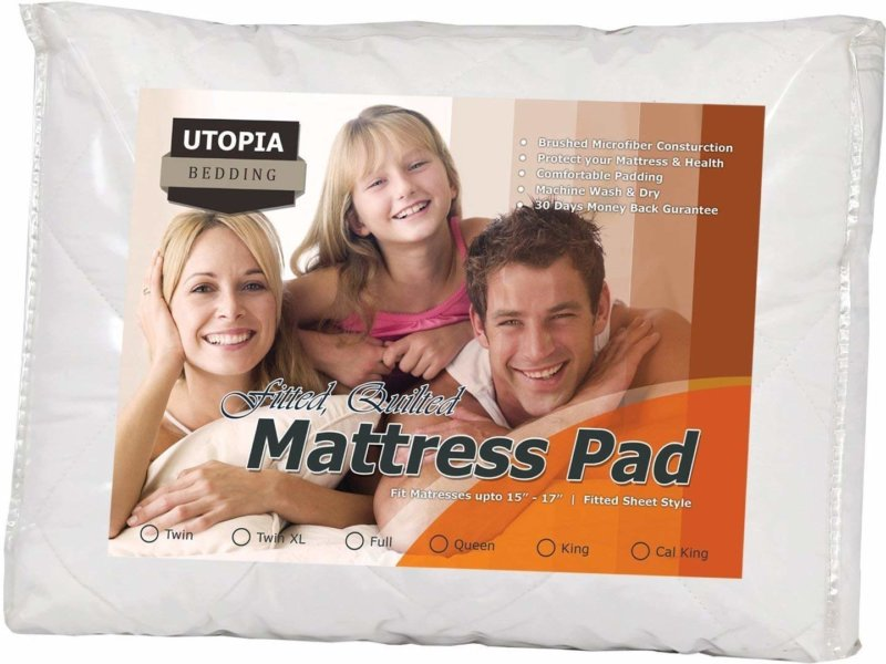 Utopia Bedding mattress pad in packaging
