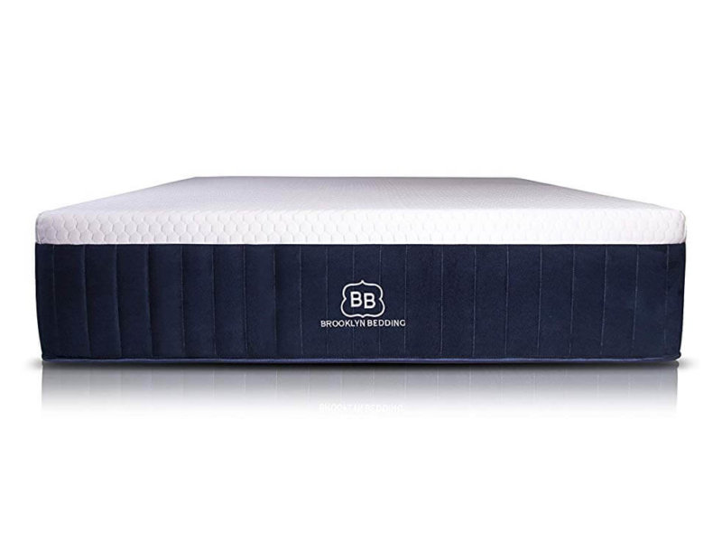Brooklyn Bedding Aurora mattress side view on white background