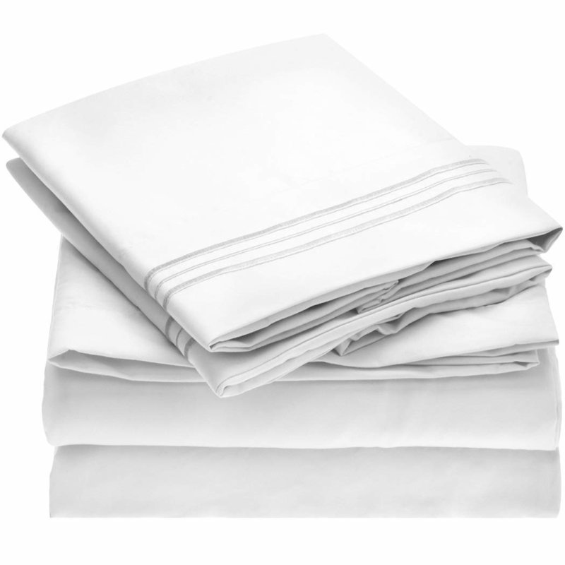 Mellanni Bed Sheet Set white