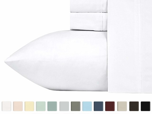 California Design Den Everyday Luxury sheet set color options