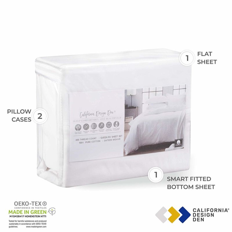 California Design Den Everyday Luxury sheet set in packaging
