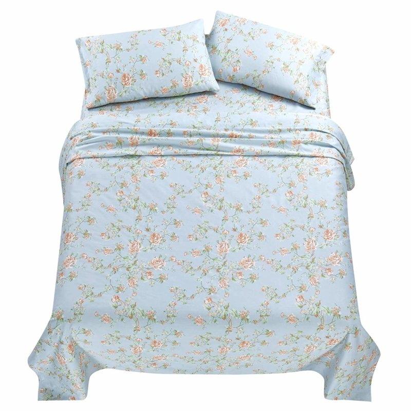 California Design Den Everyday Series sheet set in Antique Rose Light Blue