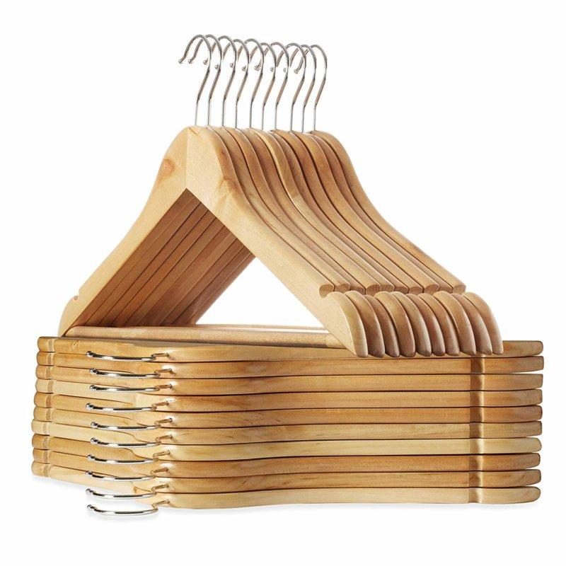 Casafield 20 Natural Wooden Suit Hangers
