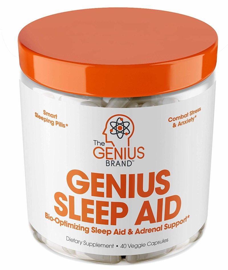 Genius Sleep Aid bottle front