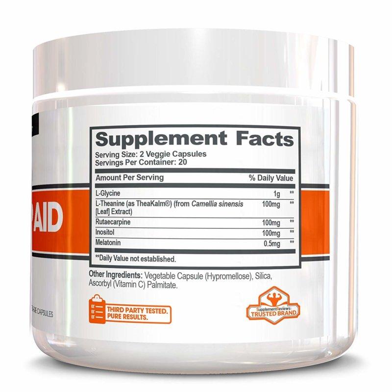 Genius Sleep Aid bottle supplement facts